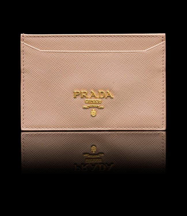 Prada Card Holder in Cameo | wish list | Pinterest | Card Holders ...