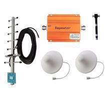 Kit Repetidor De Señal Celular Doble Antena Interior+divisor