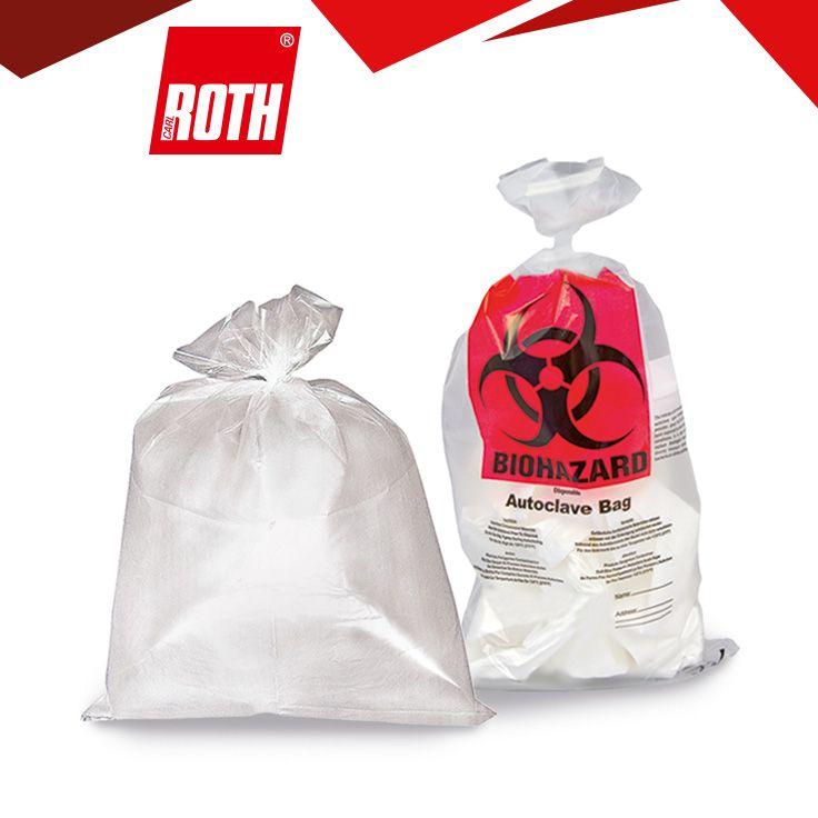 Sekuroka®-Entsorgungsbeutel Für die hygienische Entsorgung von kontaminierten Laborartikeln. Autoklavierbar. Beutel bei Sterilisation nur locker verschließen!