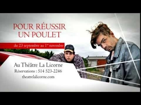 POUR RÉUSSIR UN POULET | Théâtre La Licorne