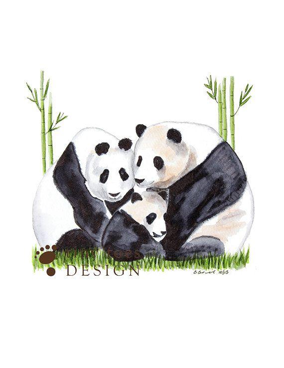 Panda drawing panda bear d cor panda nursery asian for Panda bear decor