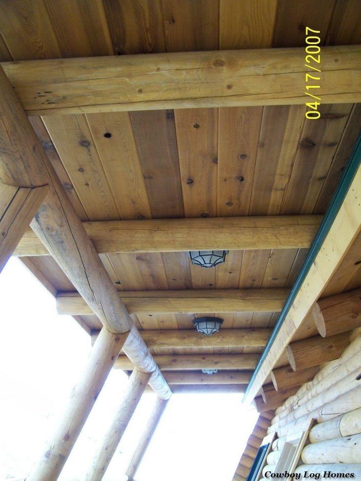 Войти Крыша системы За веранда | Cowboy Log Homes
