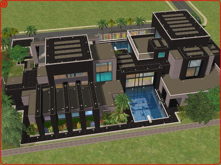 Sims 2 : ) Ouse | Sims 2 Modern Dream House By ~RamboRocky On
