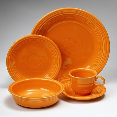 I have one of each bright Fiesta ware color set in my kitchen...It just makes ordinary dinners a little more fun!