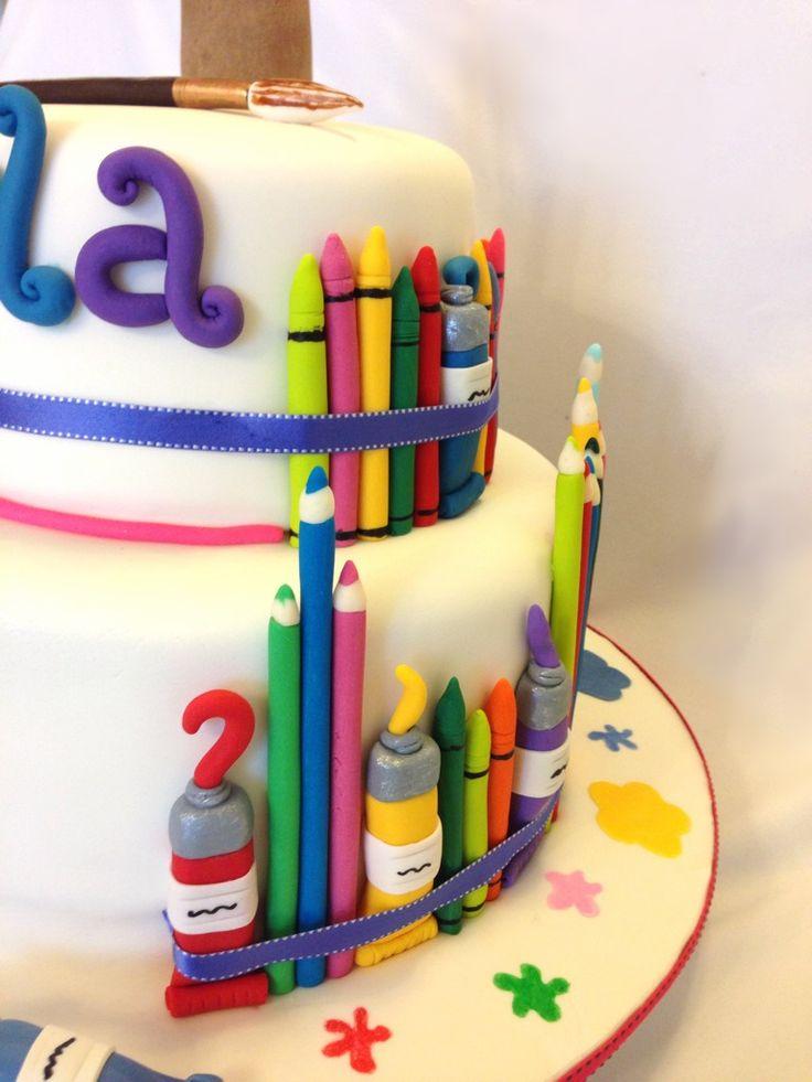 Art Themed Birthday Party Cakes