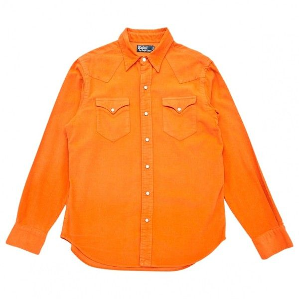 Pre-owned Polo Ralph Lauren Shirt (€85) ❤ liked on Polyvore featuring men's fashion, men's clothing, men's shirts, men's casual shirts, men clothing shirts, orange, polo ralph lauren mens shirts and mens orange shirt