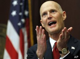 Florida Early Voting Fiasco: Voters Wait For Hours At Polls As Rick Scott Refuses To Budge - GET RID OF THIS GUY, FLORIDA !!!