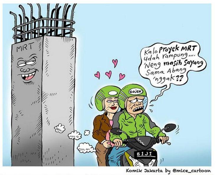 Mice Cartoon, Komik Jakarta - Agustus 2015: Proyek MRT