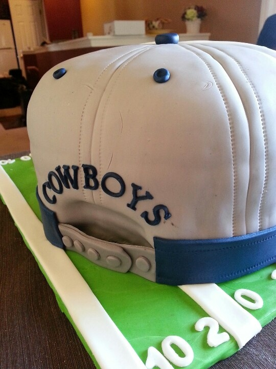 Dallas Cowboy Cake Snap Back Hat Cakes Made By