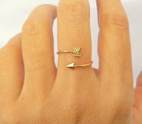 Arrow Ring / Arrow Jewelry / Simple Ring / by BeSimpleJewelry