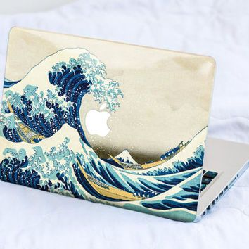 Great Wave of Kanagawa MacBook Decal Skin MacBook decal sticker MacBook Pro Retina Cover MacBook Air Acer Asus Dell Lenovo Chromebook