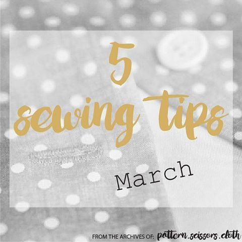 Last night I posted 5 Sewing Tips for March on the blog. Think: cutting bias pieces, sewing neckline facings, my fave fusible, puckered selvedges, and blockfusing - check it out if you haven't already! #linkinprofile  #5sewingtips #patternscissorscloth #sewlikeapro ⭐