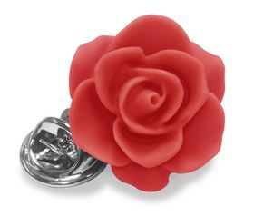 Shop Polyresin flower lapel pin with butterfly back. Adds style to any blazer or jacket, presented in a luxury travel pouch. The perfect finishing touch for the groom and ushers...available in a variety of colours.