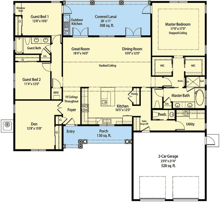 Spacious Florida House Plan Rec Room: 1055 Best House Plans: Small(er)... Images On Pinterest