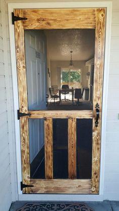 18 Diy Screen Door Ideas - for the garage man door.