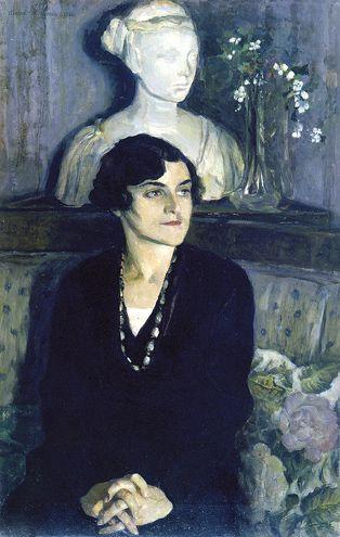 Mikhail Nesterov - Portrait of Lisa Tal, 1936, Olie på lærred