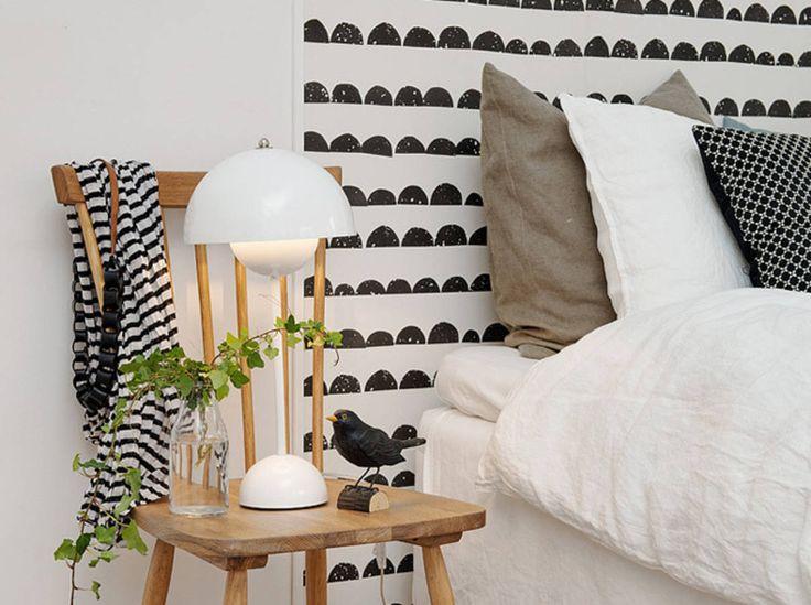 Un papier peint en tête de lit