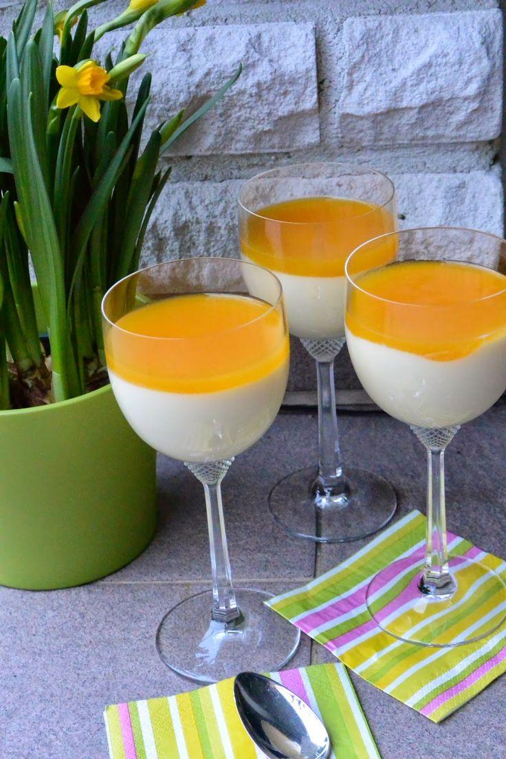 Celebration Treats 4U: Valkosuklaapannacotta mangohyytelöllä