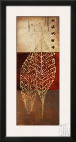 Fossil Leaves I Framed Art Print by Patricia Pinto at Art.com