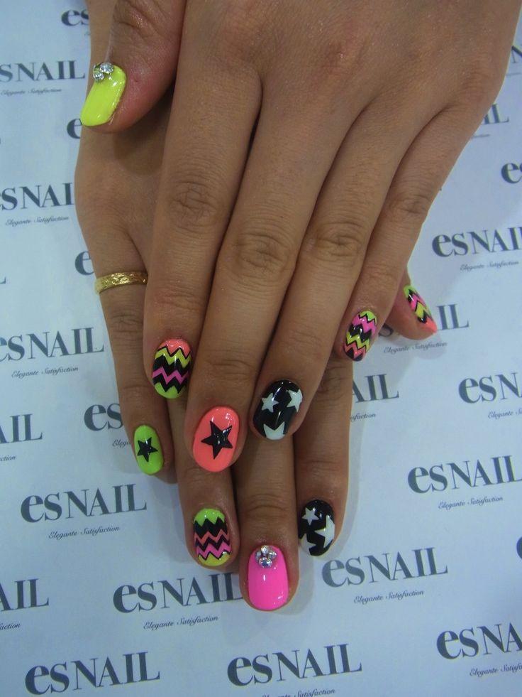 nails, multi colors #nail #unhas #unha #nails #unhasdecoradas #nailart #colorido #mixedprints