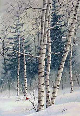 Winter Woods by Kathy Glasnap