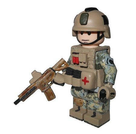 custom lego military | US Army Special Forces Custom Minifigure