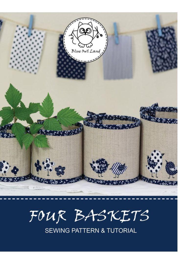 Quilted Nesting Basket Quartet