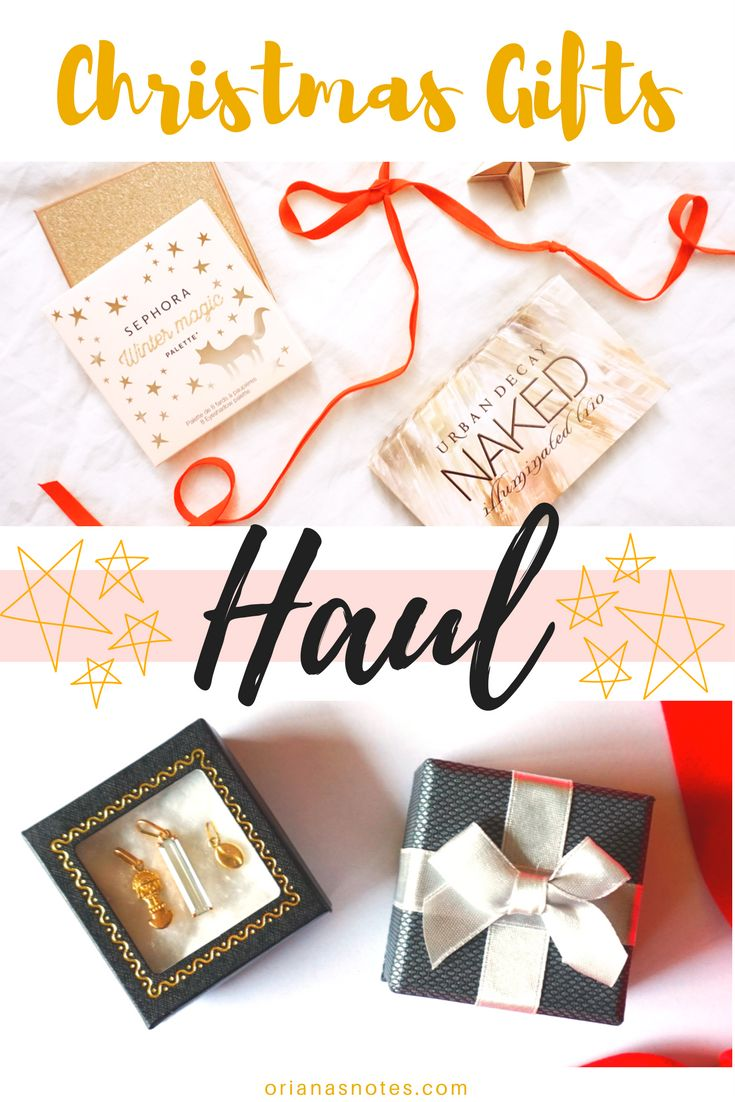 My Christmas Gifts Haul 2017 ! many gifts like that Urban Decay Naked palette 💗🎁