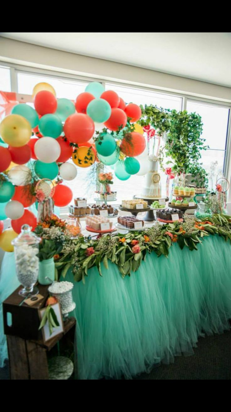 16 best Mint, Gold and Coral Dessert Table Ideas images on ...