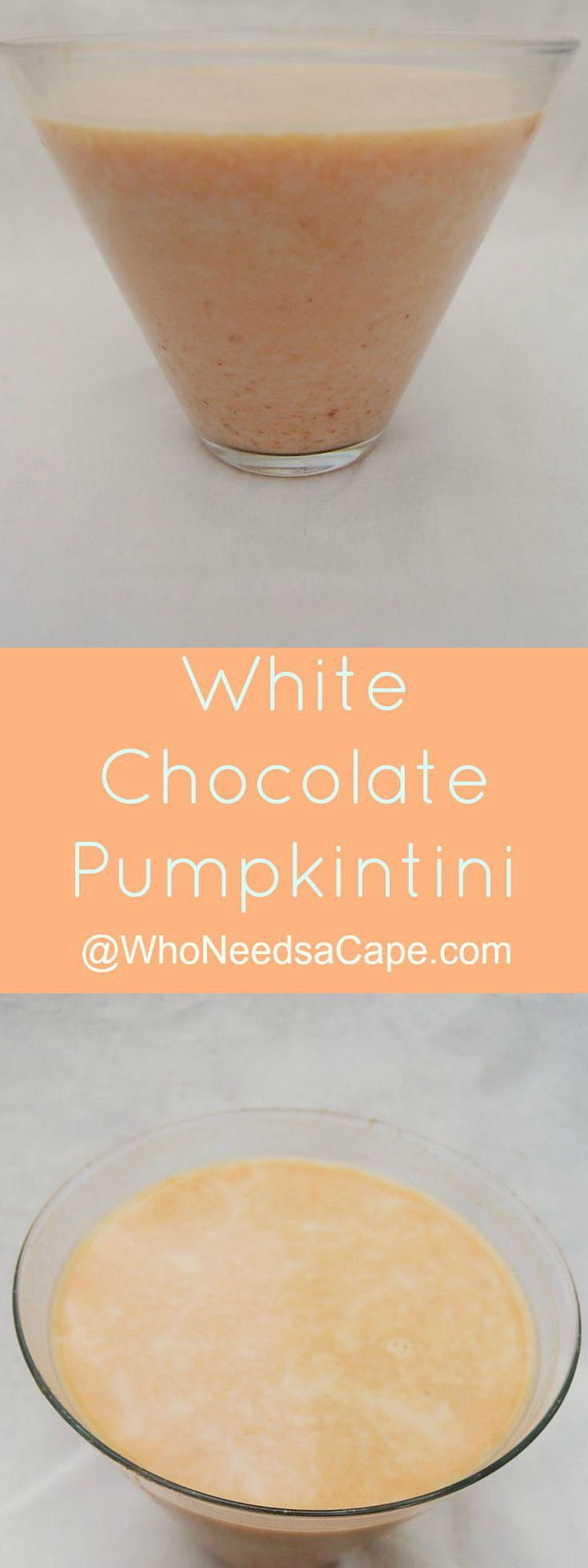White Chocolate Pumpkintini A must drink combo of Chocolate and Pumpkin - Dessert Martini