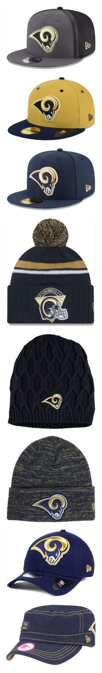 """""""Los Angeles """"RAMS""""!"""" by beautifuldistroyer on Polyvore featuring men's fashion, men's accessories, men's hats, mens snapback hats, mens camo hats, mens caps and hats, mens fitted hats, mens knit hats, tops and navy"""
