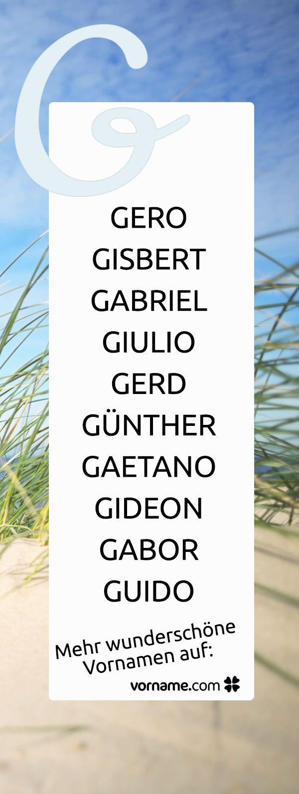 Du bist auf der Suche nach einem schönen Jungennamen, der mit G beginnt? Bei uns findest Du alle Vornamen zu diesem Thema!