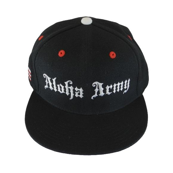Aloha Army Warrior Black / Black Snapback