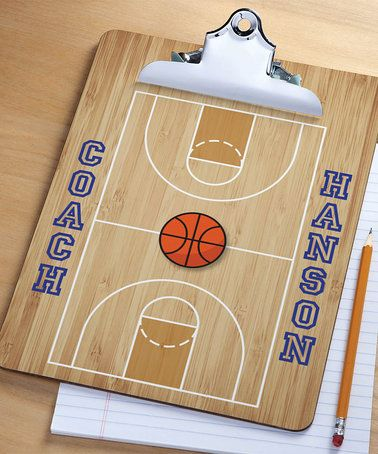 Look what I found on #zulily! 'Coach' Personalized Basketball Clipboard #zulilyfinds