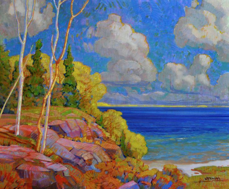 Terry Watkinson - Hill and Beach 30 x 36 Acrylic on canvas