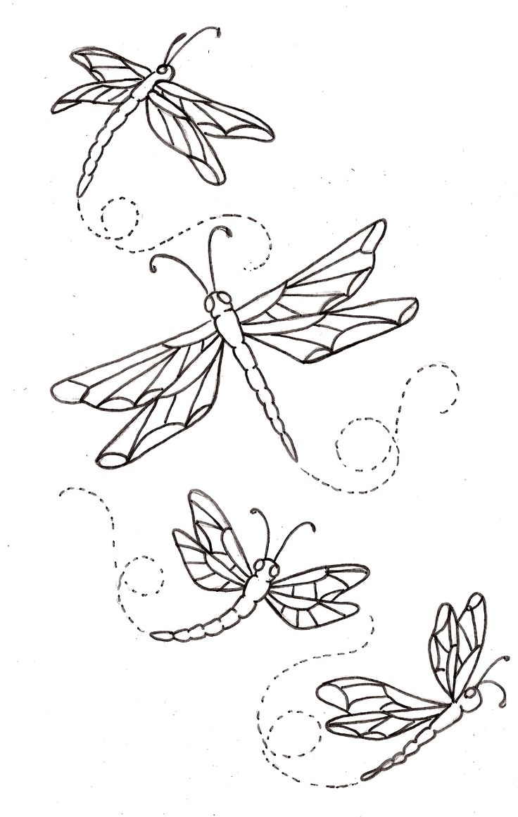 Dragonfly Tattoo Line Drawing : Dragonflies butterflies pinterest stempeln färben