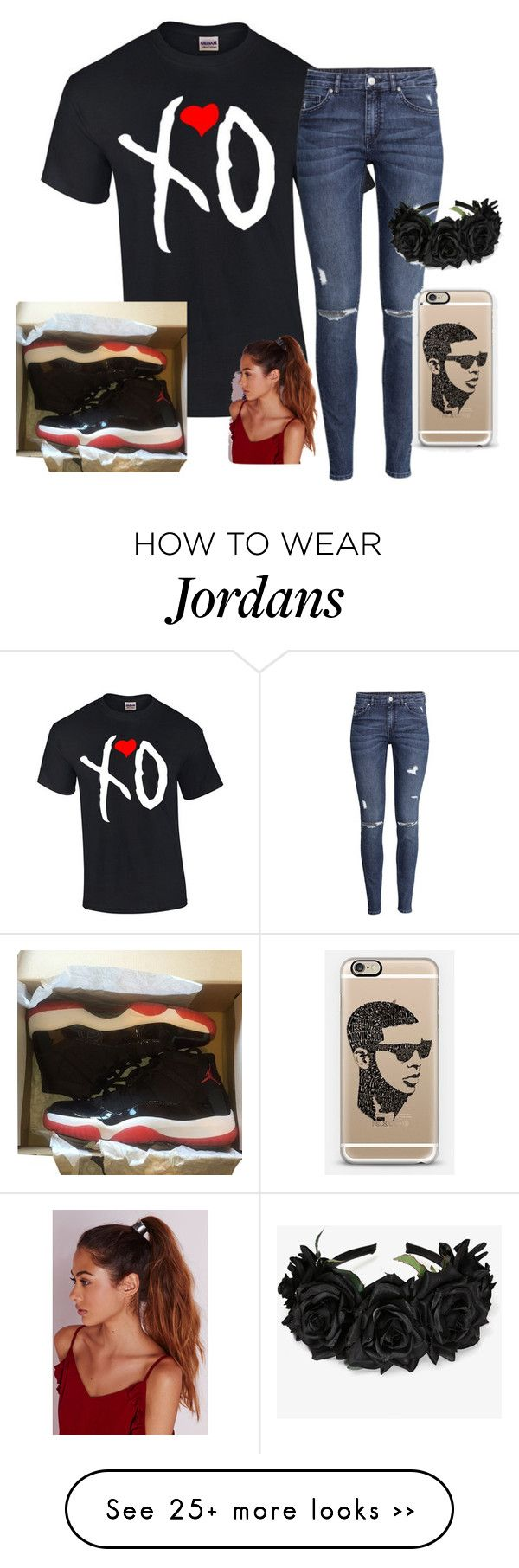 """""""xO"""" by heavenlydiva on Polyvore featuring moda, H&M, NIKE, Casetify y Missguided"""