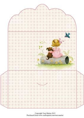 Chloe puppy money wallet on Craftsuprint designed by Toni Martin - A money wallet to co-ordinate with my design cup663822_1894 - Now available for download!
