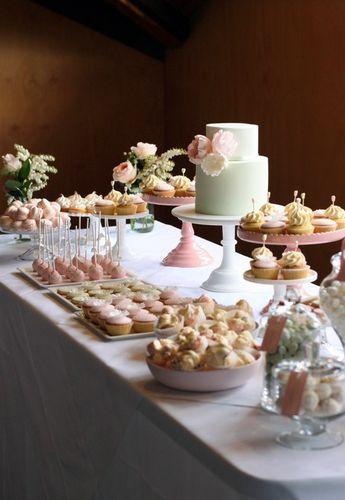 Mint & Dusty Pink Dessert Table