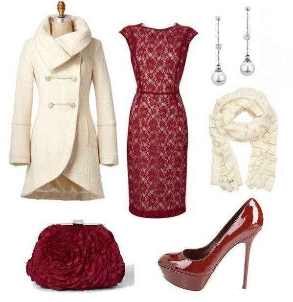A winter wedding outfit with Ecksand white pearls & diamonds earrings