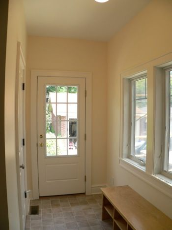 Bump Out Addition Cantilevered Finished Mudroom Interior