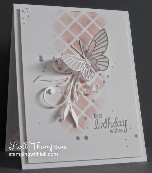 Butterfly card by Loll Thompson.... (change sentiment)