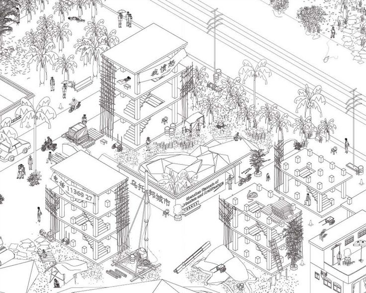 "MAP OFFICE (Gutierrez, Portefaix) recently published a book titled Unreal Estates of China, with 56 axonometric drawings of China's land- and city scapes. ""I have half an hour to spend while the driver repairs the taxi's flat tire. Fifty meters from the main road, the abandoned building is..."