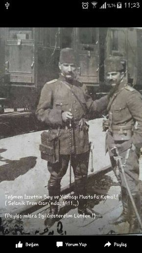 Yüzbaşı Mustafa Kemal-Selanik tren garı