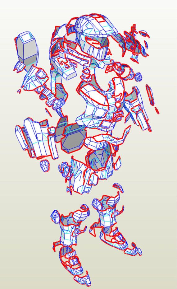 Halo Master Chief armor suit EVA Foam PDF, PDO pepakura