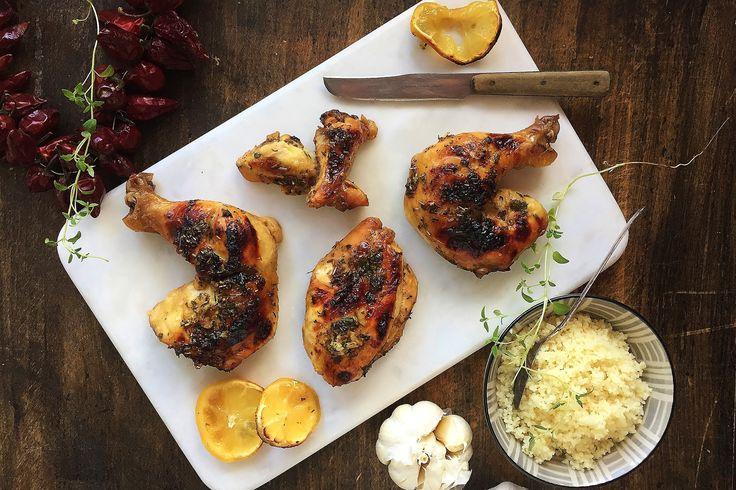 Honey-Lemon Glazed Grilled Chicken
