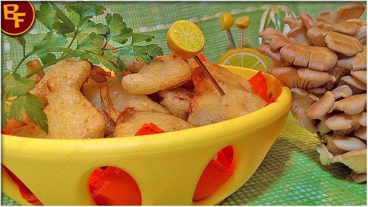 Funghi in pastella al profumo di limone