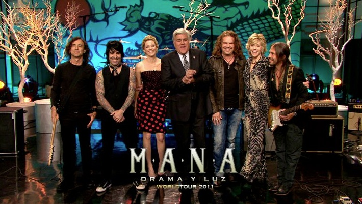 Maná appeared on Jay Leno. To view: http://www.youtube.com/watch?v=DHs2vzSVUck
