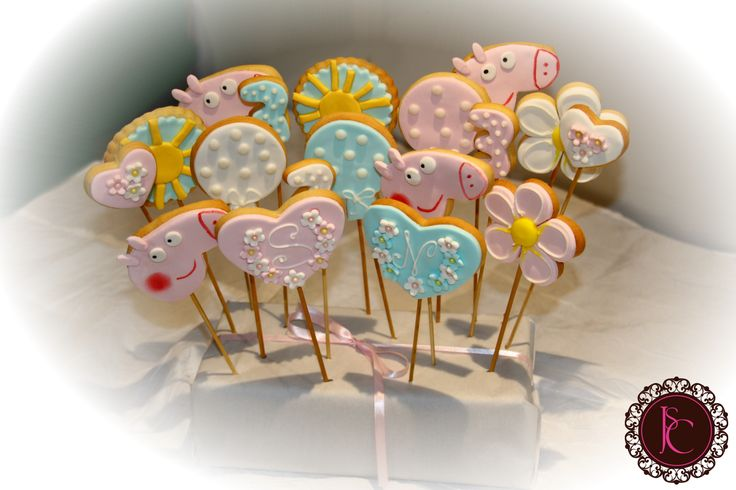 Decorate cookies peppa pig birthday