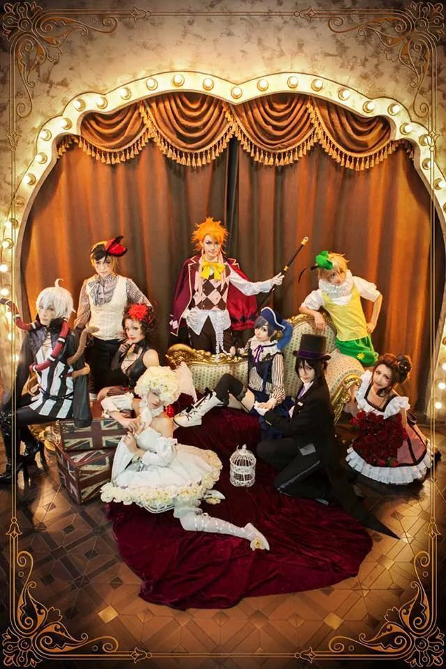 Black Butler - Snake, Dagger , Beast, Joker, Peter, Wendy, Sebastian, Ciel, and Doll : Noah's Ark Circus - COSPLAY IS BAEEE!!! Tap the pin now to grab yourself some BAE Cosplay leggings and shirts! From super hero fitness leggings, super hero fitness shirts, and so much more that wil make you say YASSS!!!